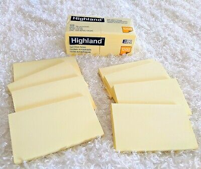 20 Self-stick Notes Yellow 12 Square Packs 8 Rectangle Sticky Notes Highland