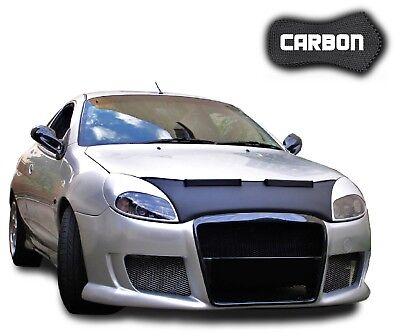 Haubenbra Ford Puma CARBON Steinschlagschutz Car Bra Tuning Automaske Black Bull