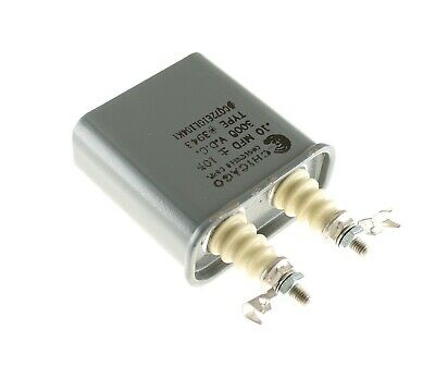 .1mfd 3000vdc Hermetically Sealed Oil Capacitor .1uf 3000v Dc 3kv Volts .10mf