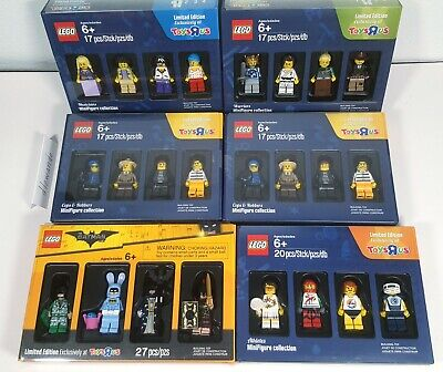 LEGO Toys R Us Minifig Collection LOT Batman Movie, Musicians, Warriors, etc NEW