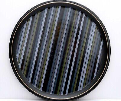 "Denby JET STRIPES Large Round Chop Plate Platter 13 1/4"" - Excellent!"
