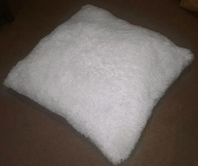 4 large European fluffy cushions/ pillows
