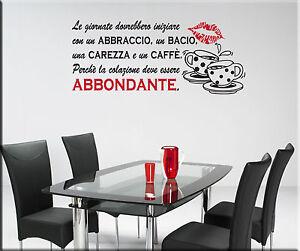 Wall stickers adesivi murali adesivo murale frasi cucina for Adesivi x cucina