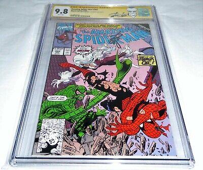 Amazing Spider-Man #342 CGC SS Signature 9.8 STAN LEE ERIK LARSEN Black Cat 🔥