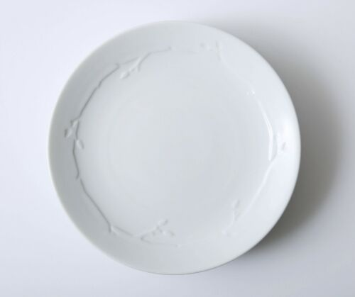 "Set of 4 Dansk Wild Willow White Salad Plates 8 1/2"""