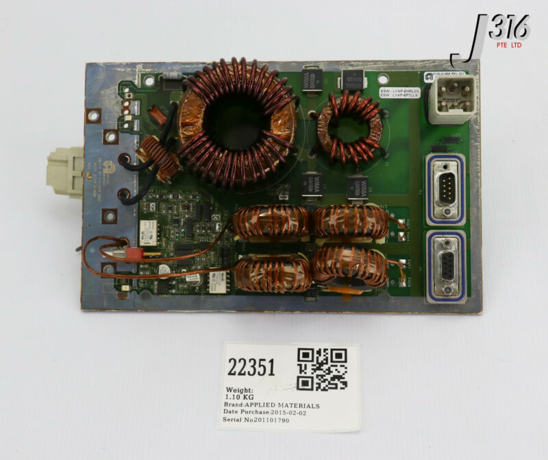 22351 Applied Materials Pcb Assy, Rf Filter W/ Rf Detector, Gas 0100-01888