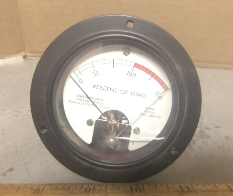A & M Instrument - 400 Hz Percent of Load Gage - P/N: 7930967 B (NOS)