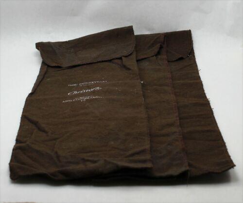 Christofle Sterling Silver Anti-Tarnish Flatware Individual Storage Bag Set of 3