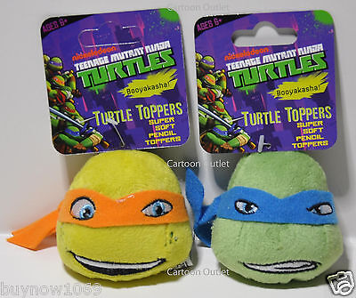 TEENAGE MUTANT NINJA TURTLES PENCIL TOPPERS 2PC SET STOCKING BLUE for backpack](Teenage Mutant Ninja Turtles Backpack For Kids)