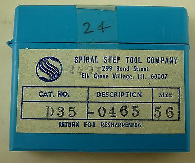 24 Spiral Step Tool 56 .0465 Dia. 1.5 Oal Solid Carbide Pcb Drill Bits Usa
