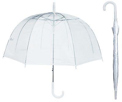 "46"" Arc Clear Full Dome Style Umbrella - RainStoppers Rain Fashion Bubble Travel"