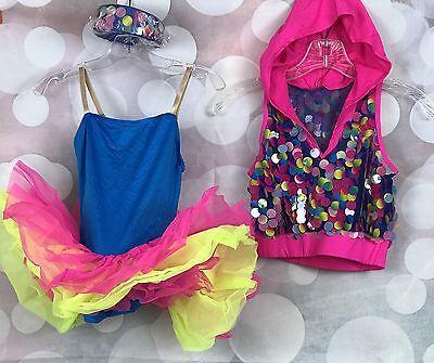 Weissman Girls Pink Dance Jazz Costume Pageant Hip Hop Hooded Headband MC