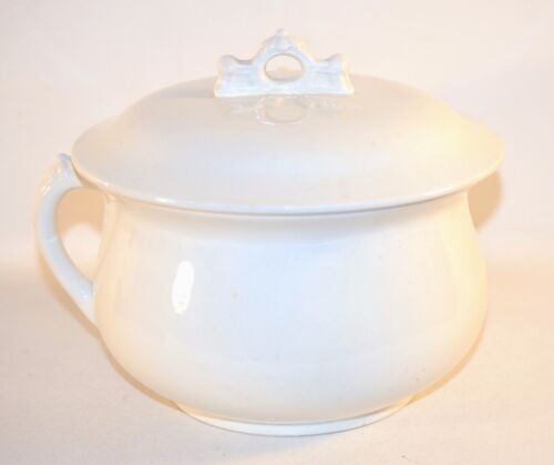 Antique Vintage Royal Patent Ironstone George Jones & Sons England Chamber Pot