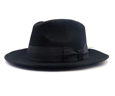 50's Vintage Mafia Fedora Hat Godfather Unisex Black Women Men's Classic ](Cheap Black Fedora Hats)