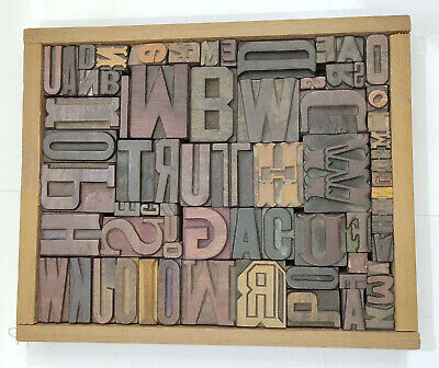 Letterpress Wood Types Collage Truth 69 Vintage Mixed Types For Decor Gift Tc26