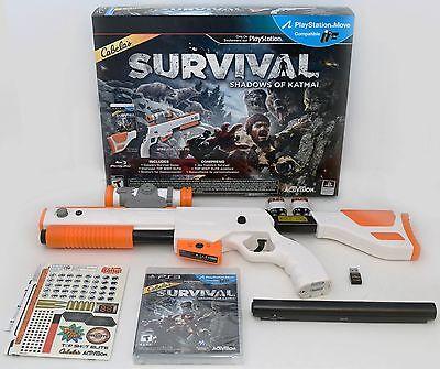 NEW PS3 Cabela's Survival Shadows of Katmai Game w/Top Shot Elite Rifle Gun NEW comprar usado  Enviando para Brazil