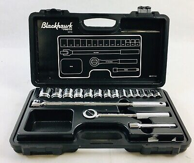 Blackhawk by Proto UW-616MS Drive Metric Impact Socket Set 16-Piece 1//2-Inch