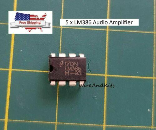 5 PCS LM386 DIP-8 Audio Power AMPLIFIER IC USA Seller