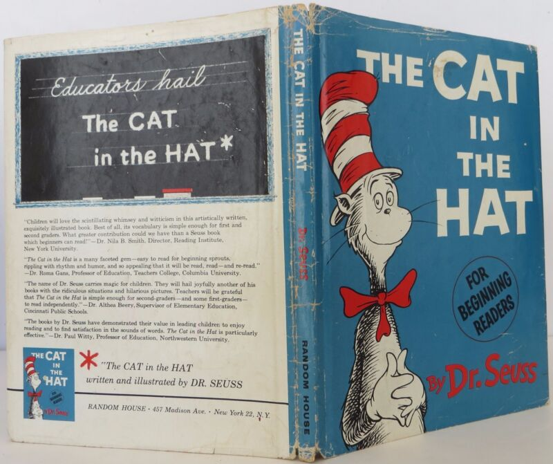 """Dr. Seuss """"the Cat In The Hat"""" Inscribed First Edition"""
