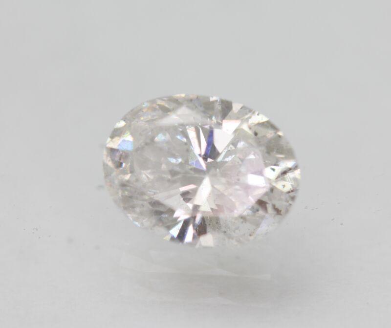 Certified 0.83 Carat E SI1 Oval Enhanced Natural Loose Diamond 7.07x5.39mm 2VG