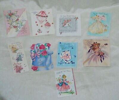 Vintage 9 Lot Bridal Shower Wedding Gift Cards Hallmark Rust Craft DAline Used