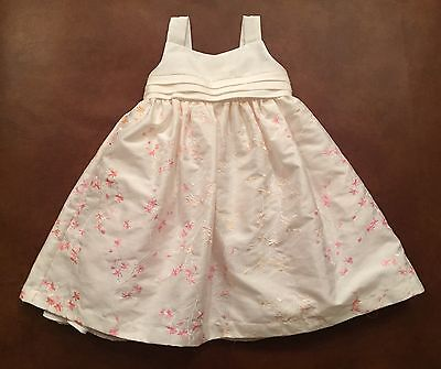 Cherokee Ivory Floral Dress For 2T Girl - Ivory Dresses For Toddlers