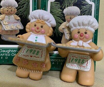Hallmark Ornaments Daughter & Son 1988 Baking Cookies Baker
