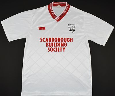 1989-1990 SCARBOROUGH SPALL AWAY FOOTBALL SHIRT (SIZE M) image