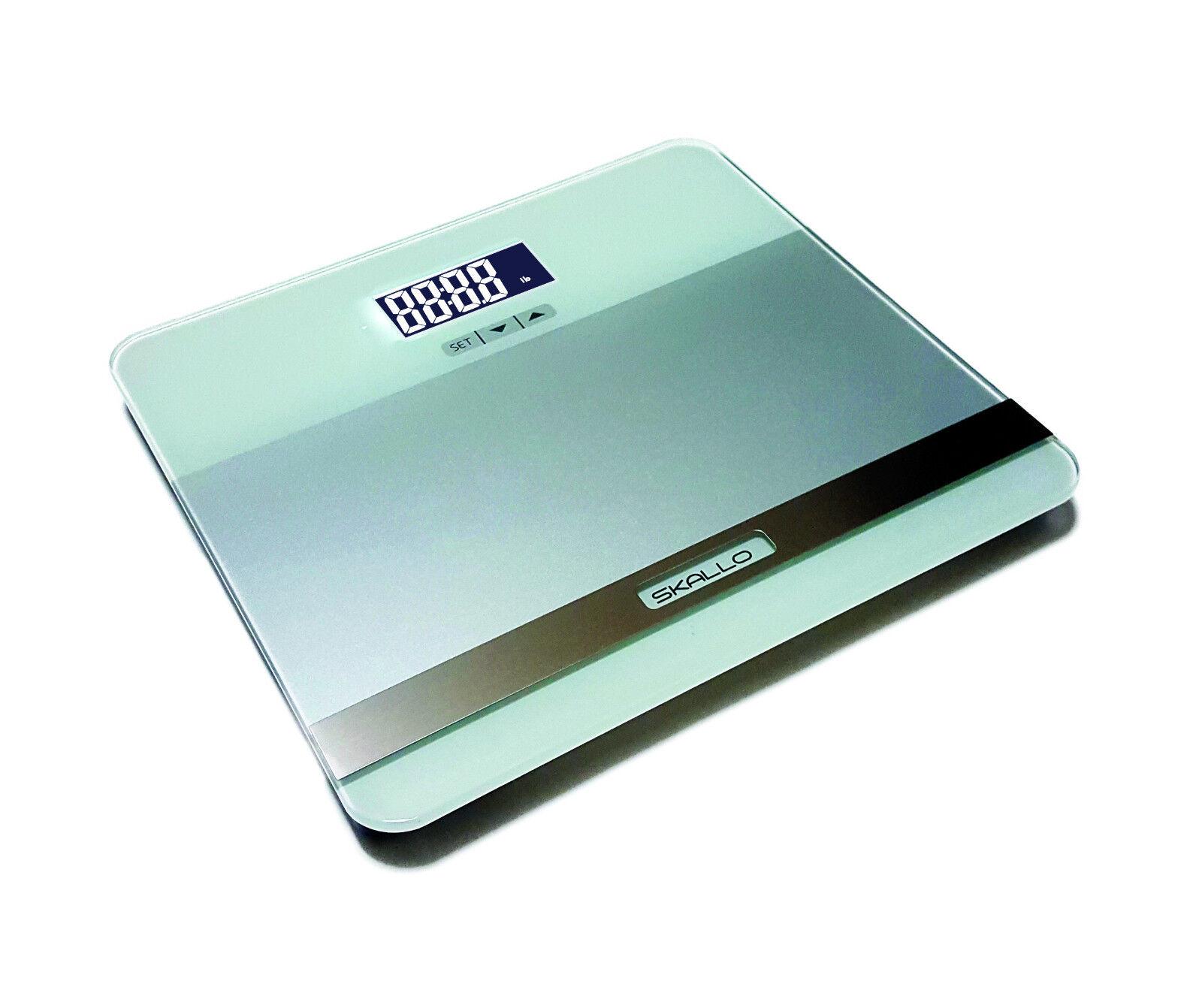 Skallo 440lbs LCD Digital Bathroom Body Fat Weight Scale Hydration Muscle BMI S