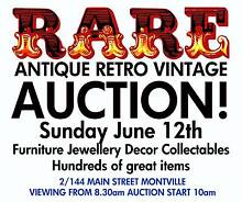 ANTIQUE VINTAGE AND RETRO AUCTION Montville Maroochydore Area Preview