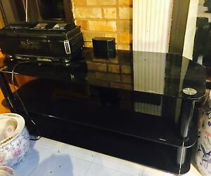 Glass TV stand - large