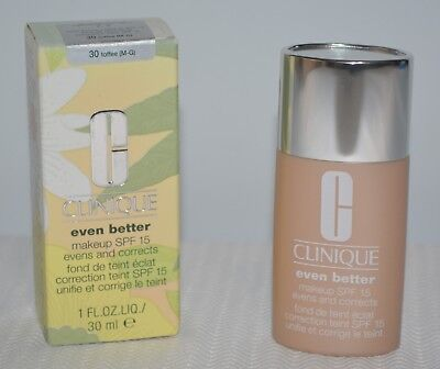 Best Liquid Makeup - 1 Clinique EVEN BETTER Liquid Makeup Broad Spectrum SPF 15 (30) ~TOFFEE~