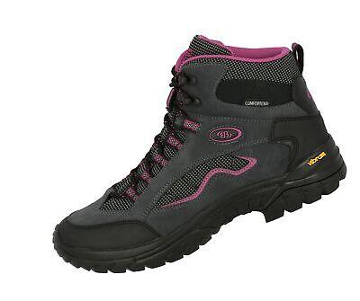 Brütting Summit High Outdoor Schuh Freizeit Damen halbhoher Schaft grau pink