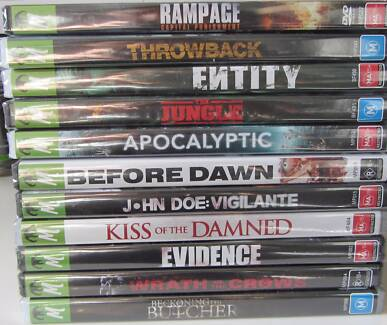 11 Brand New, Still In Plastic Horror Movie DVDs Ascot Vale Moonee Valley Preview