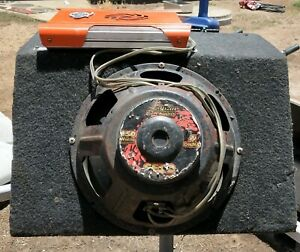 12 inch sub and box with 2 amps