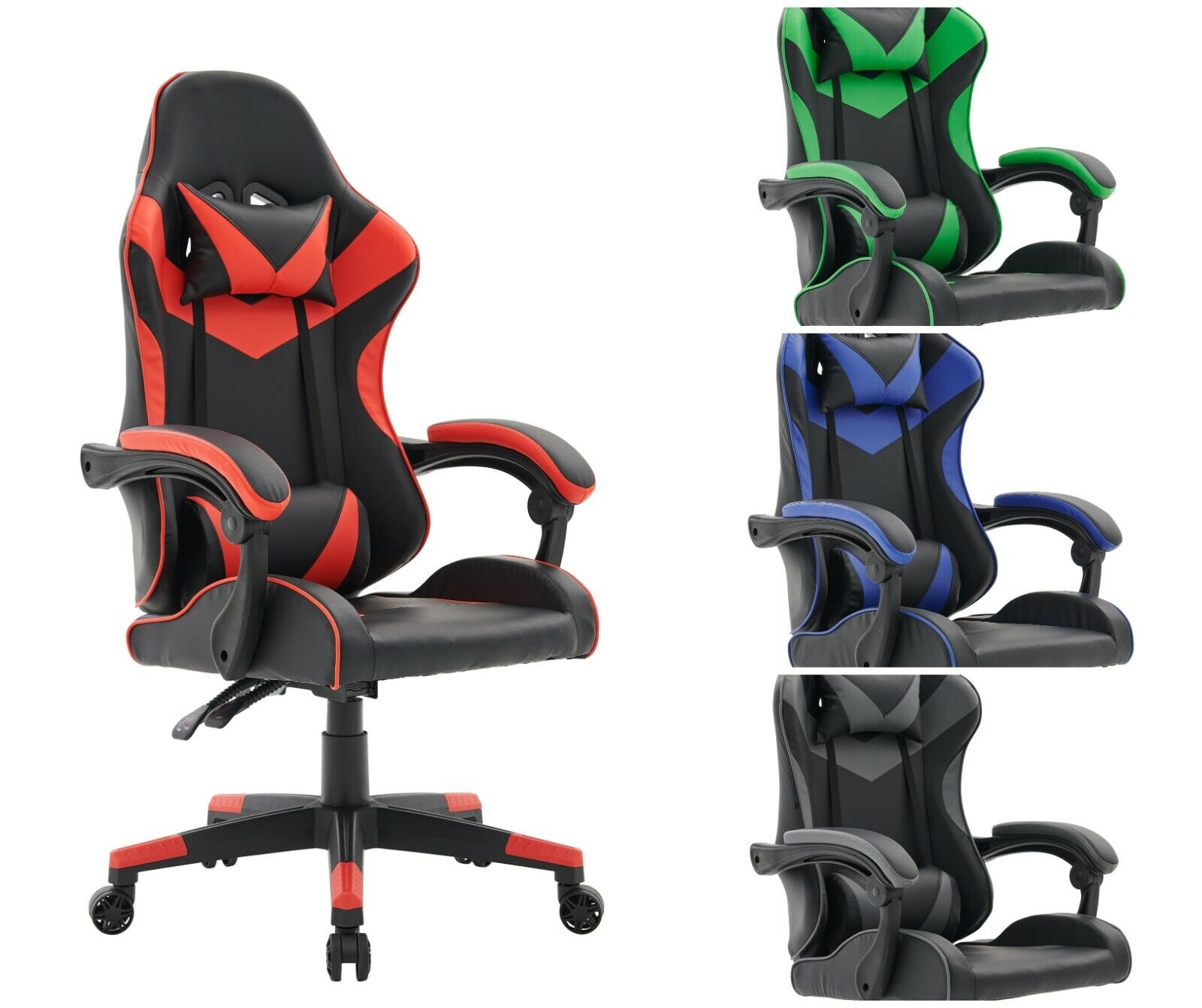 Computer Games - Gaming Computer Chair Ergonomic Adjustable Swivel Recliner Laptop Office Chair
