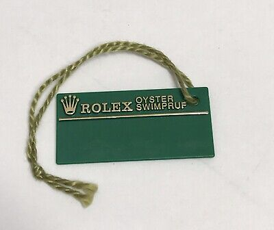 ROLEX Green Tag Hangtag Oyster Swimpruf W287581 SUBMARINER GMT EXPLORER 1994/95