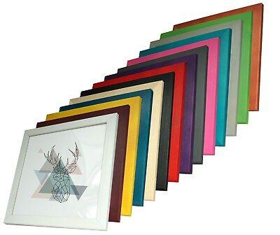 Holz Quadratischen Tisch (MAX Kiefer Bilderrahmen quadratisch Holz Natur 20x20 25x25 30x30 40x40 50x50 Neu)