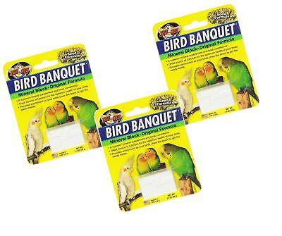 Zoo Med Mineral Block Original Formula Banquet Bird Food, 1-Ounce (3 Pack)