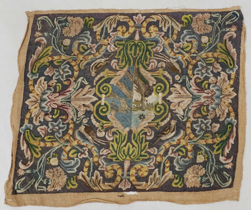 18th to 19th Century Sampler with Birds & Floral Motif