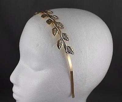 Gold shiny vine laurel branch leaf crown Leaves headband hair band greek - Goddess Crown