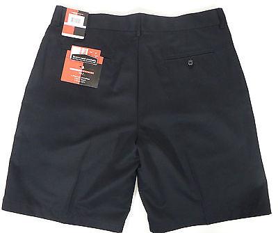Microfiber Shorts Mens 38 Grand Slam  Black Flat Front Scorecard Pocket -
