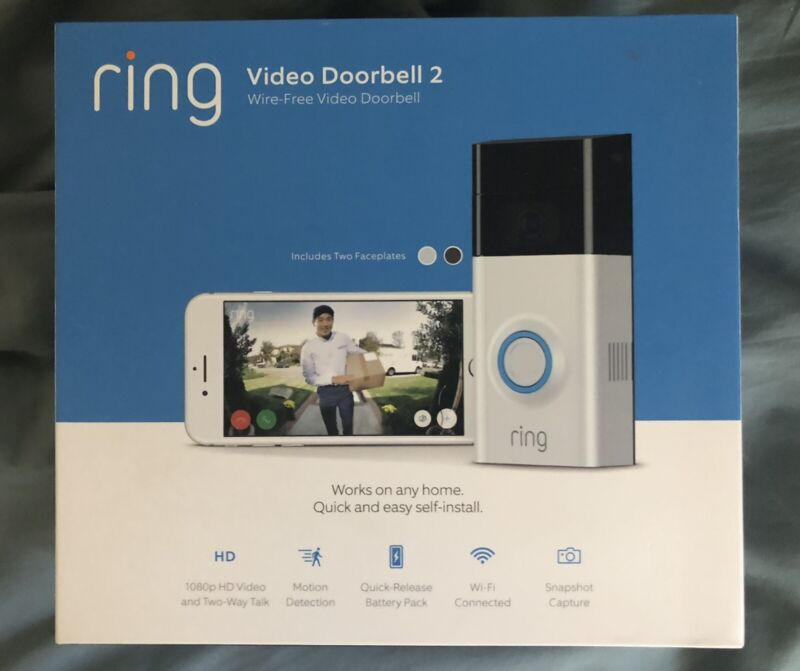 Ring Video Doorbell 2 - Factory refurbished by Amazon