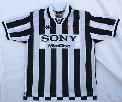 085c3bfcbc0 Juventus Italy SONY Minidisc Kappa 1996-1997 Home Soccer Jersey XL (Fits S  or M)
