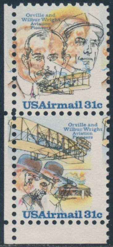 "#c91-92 Var. ""wright Brothers"" With Major Color Shift Error Bs4066"