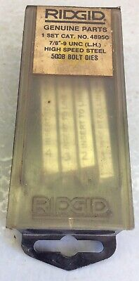 Ridgid 48950 Pipe Threading Machine Bolt Dies 78 -9unc Left Hand Steel