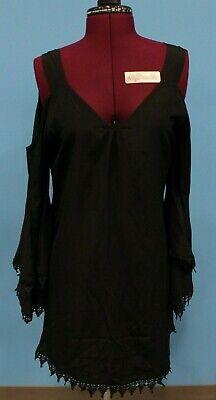Union Of Angels Cindy Bapst Catrina Black Cold Shoulder Lace Dress New! (2D1 (Catrina Dress)