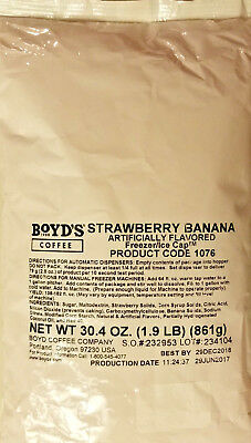 Frozen Strawberries - Boyds Strawberry Banana Frozen Drink Mix  1.9 LBS - Free Shipping