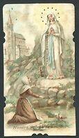 Estampa Antigua Virgen De Lourdes Andachtsbild Santino Holy Card Santini -  - ebay.es
