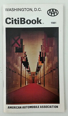 Vintage Aaa Washington D C  Citibook Tourist Travel Guide Book 1981